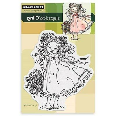 PENNY BLACK RUBBER STAMPS SLAPSTICK CLING FLOWER CHARM NEW c