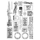 Crafty Individuals Rubber Stamps - Vintage Tickets and Ephem