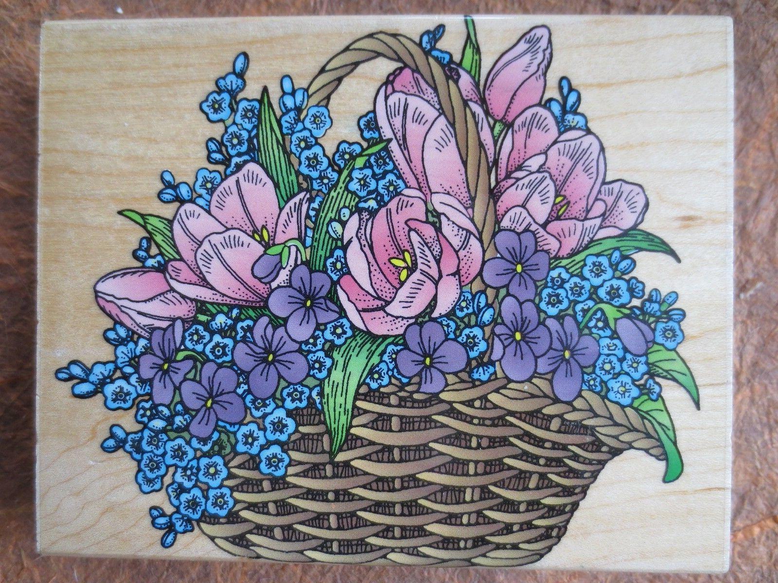 s1202 jumbo super tulip basket floral wood