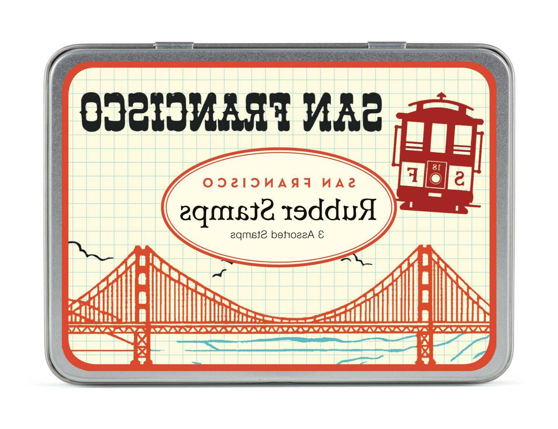 Cavallini & Co. San Francisco Rubber Stamp Set
