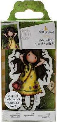 Santoro's Gorjuss Rubber Stamp-No. 43 Spring At Last