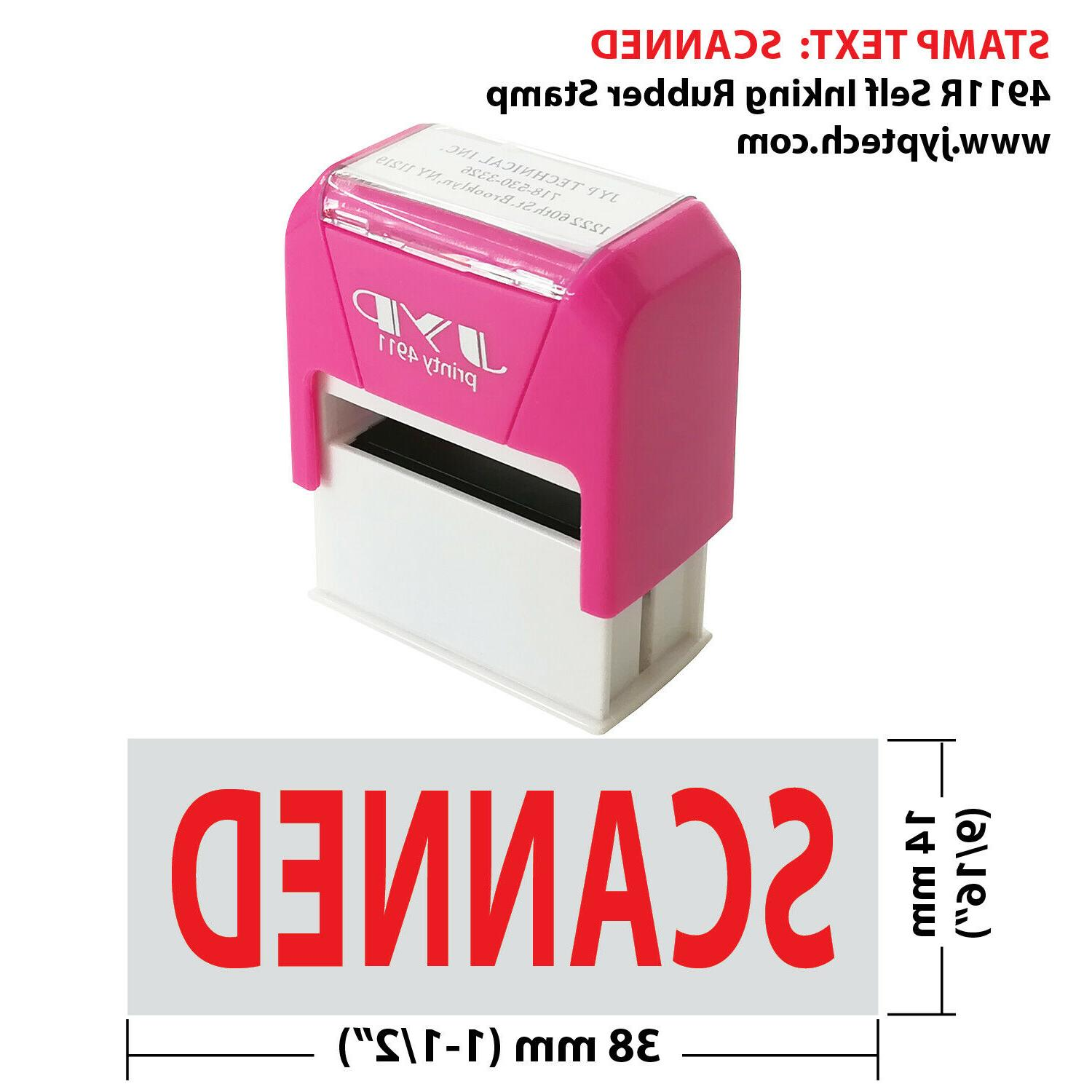 scanned 4911r self inking rubber stamp
