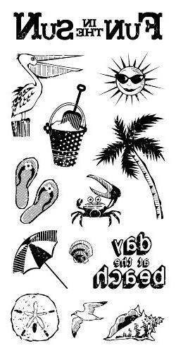 Inkadinkado Seashore Fun Clear Stamps