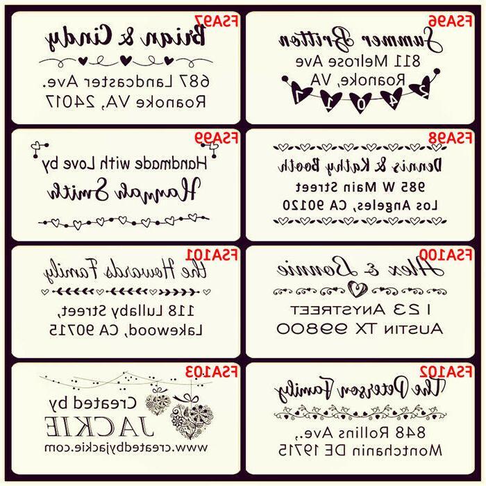 Self address stamp personalized stamper Monogram Signature