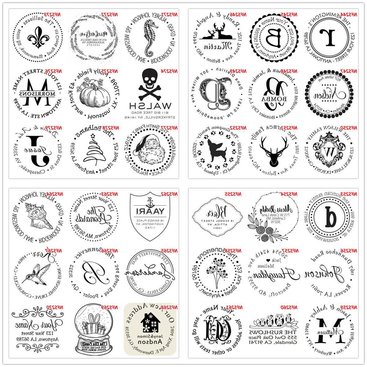 Self inking address Monogram