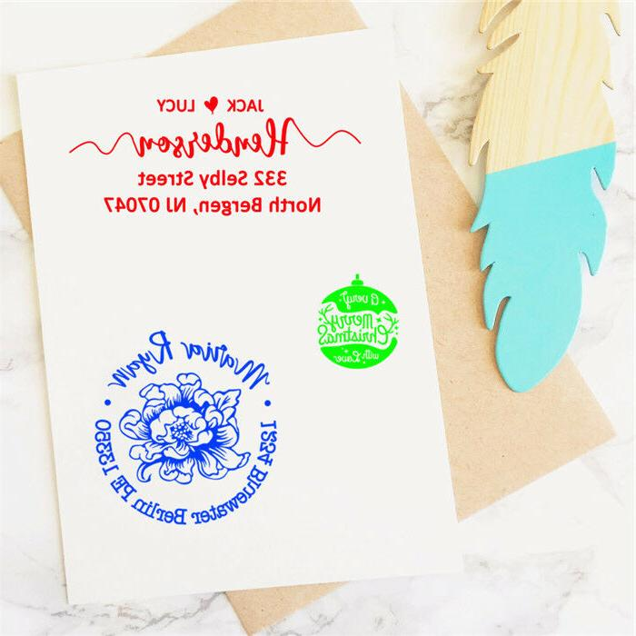 Self inking address stamp personalized stamper Monogram Signature