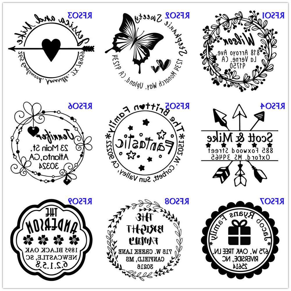 Self inking custom address stamp personalized Monogram Signature