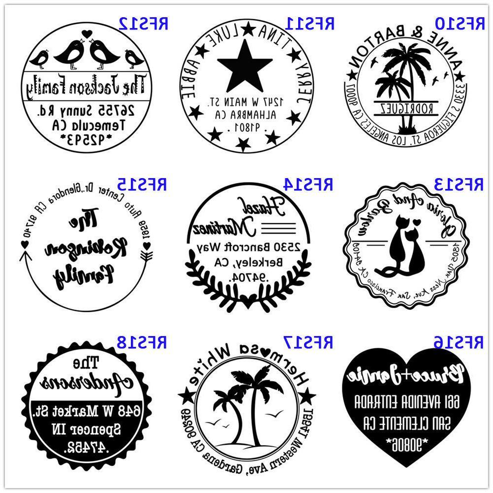 Self inking address personalized stamper Monogram