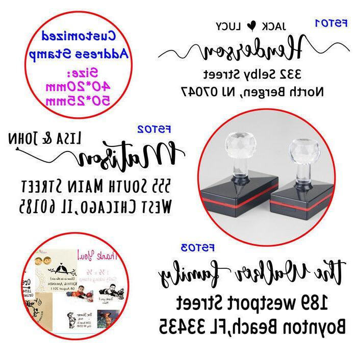 self inking custom return address stamp personalized