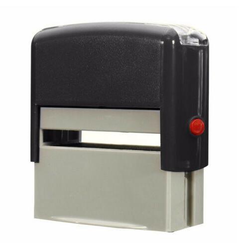 Self-Inking Rubber Stamp Ink Stamper Office Name