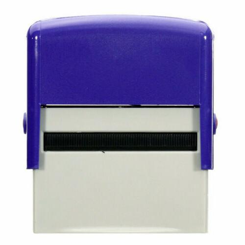 Self-Inking Rubber Ink Office Business Name Address