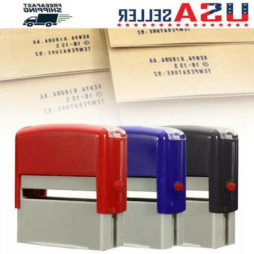 self inking rubber stamp kit ink stamper