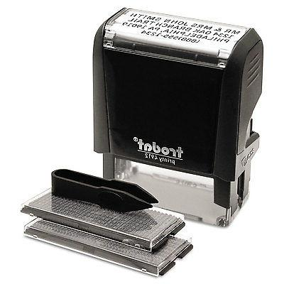 self inking yourself message stamp
