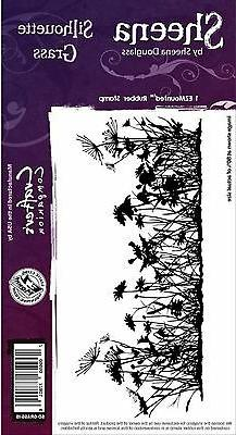 SILHOUETTE GRASS Cling Unmounted Rubber Stamp SHEENA DOUGLAS