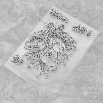 Silicone Clear Stamps Stamp Embossing Scrapbook