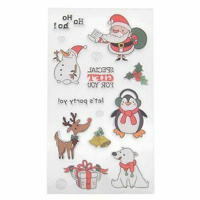 Silicone Clear Stamp Xmas Scrapbook Craft