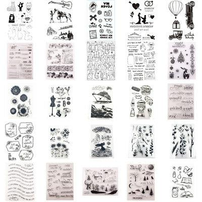 silicone clear stamps rubber stamp embossing stencil