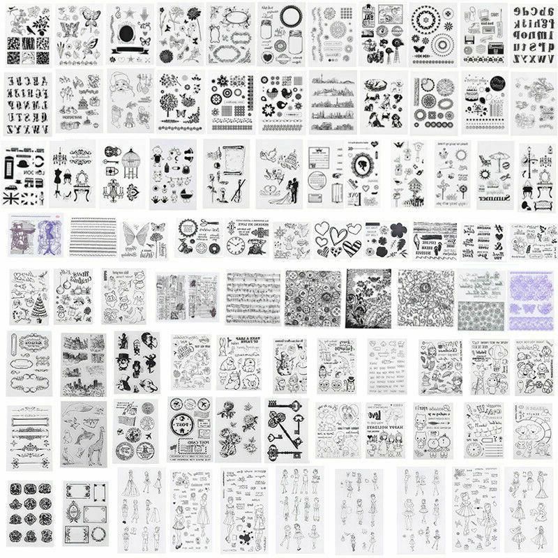 silicone clear stamps seal transparent rubber stamps