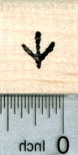 Small Chicken Track Rubber Stamp, 1/3 inch tall A31608 WM