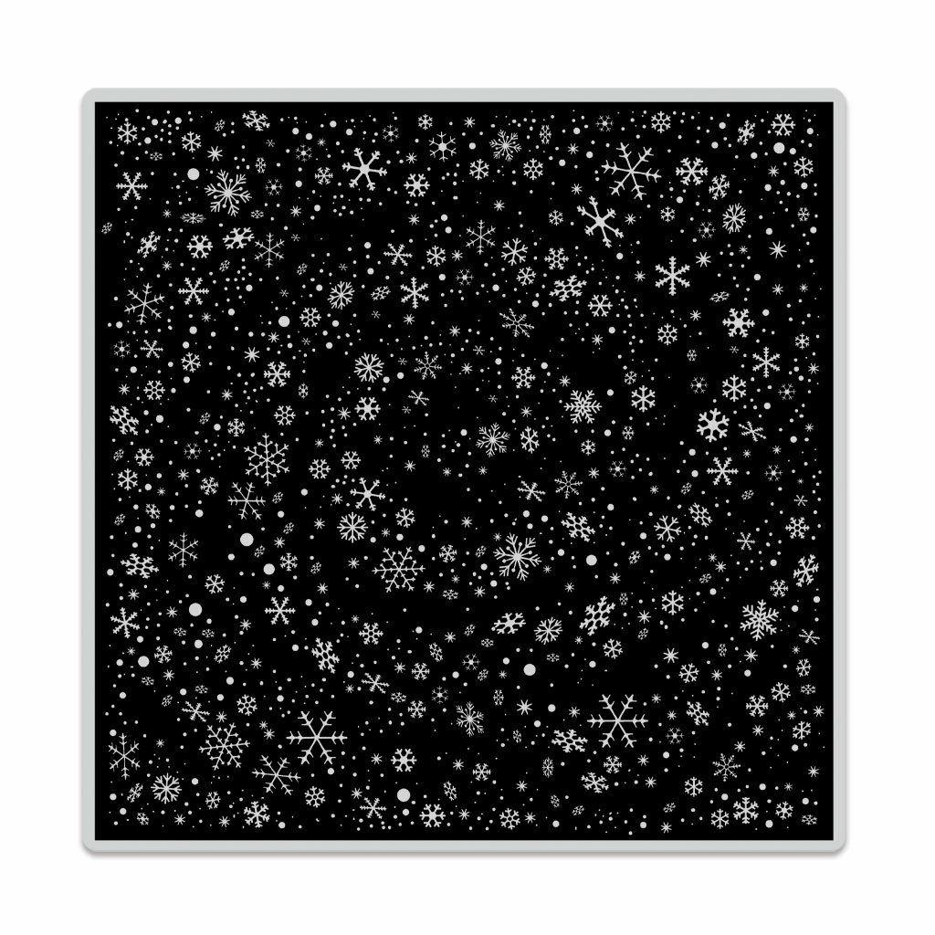 snowflake swirl background cling bold prints stamp
