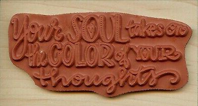 SOUL Mounted Rubber Stamp IMPRESSION OBSESSION D12217 New