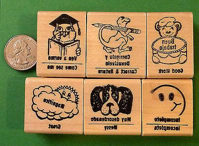 spanish english teacher s bilingual rubber stamp