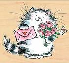 Special Delivery Valentines Day Wood Mounted Rubber Stamp PE