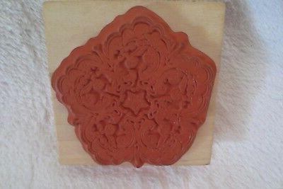 Inkadinkado Flourish Flower Wood Mounted Rubber