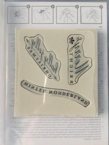 CHRISTMAS Rubber Stamp Set/3 Mount -