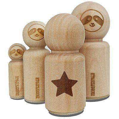 star shape excellent rubber stamp for stamping