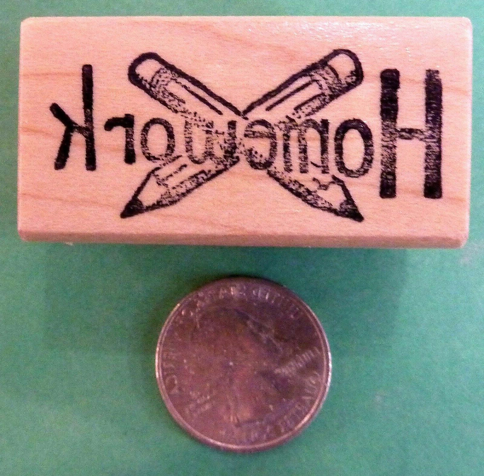 Teachers' Homework Reminder, wood mounted rubber stamp