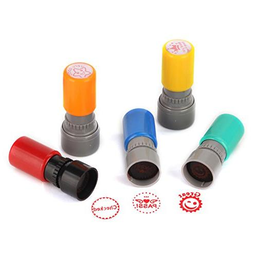 TEKEFT Pack Sorted Self-inking Stamps Photosensitive Stamps