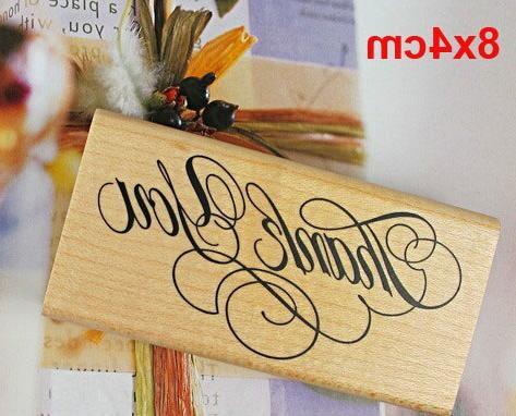 Thank DIY Scrapbooking You Wooden <font><b>Rubber</b></font> Handmade Home Decor