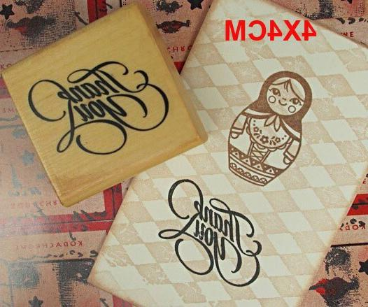Thank DIY You Wooden Handmade Wooden <font><b>Stamp</b></font> Home