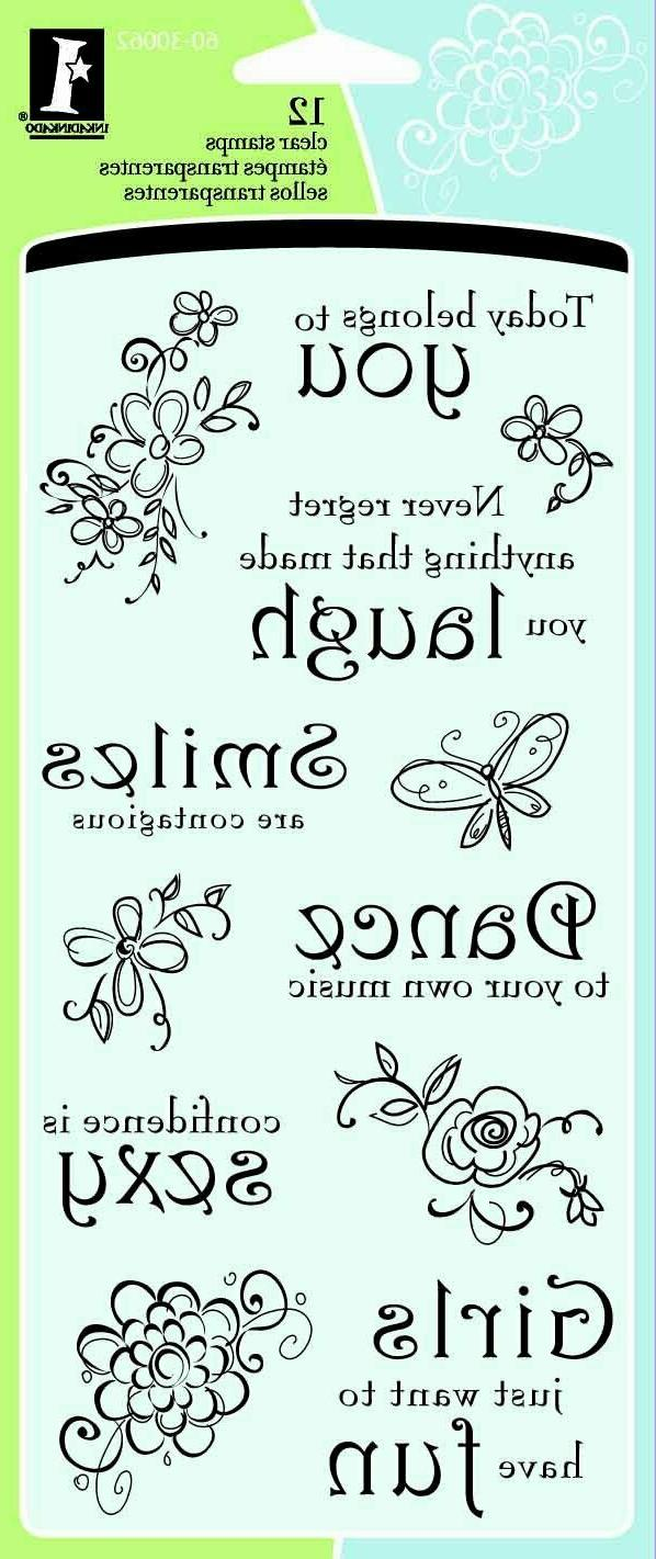 Inkadinkado Thoughts for the Day Clear Stamps