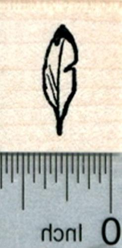 tiny feather rubber stamp