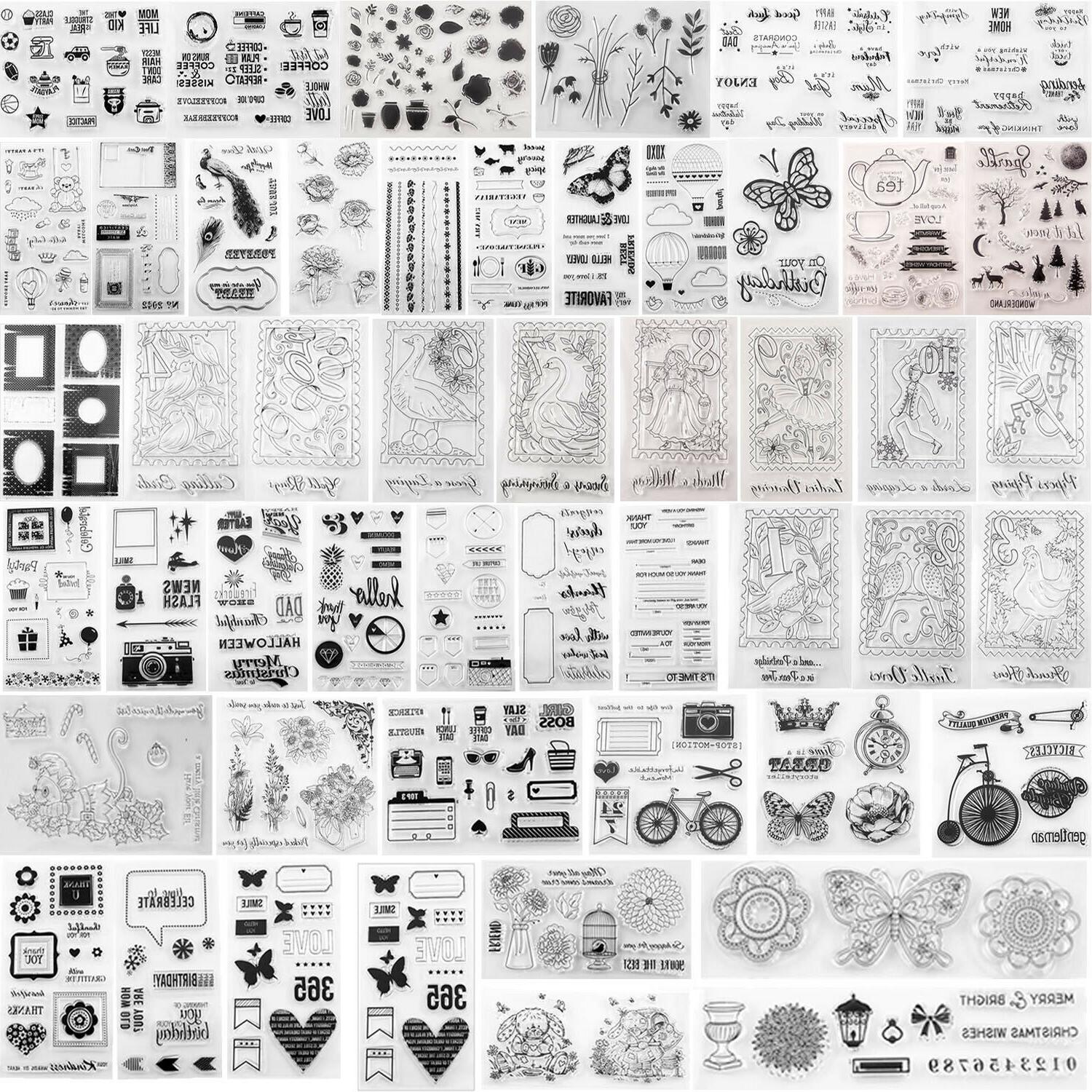 transparent clear rubber stamp for diy scrapbooking