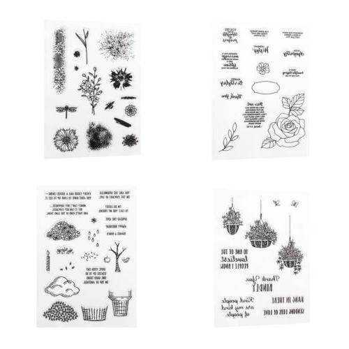 Transparent Clear Silicone DIY Scrapbooking Card Making Stam