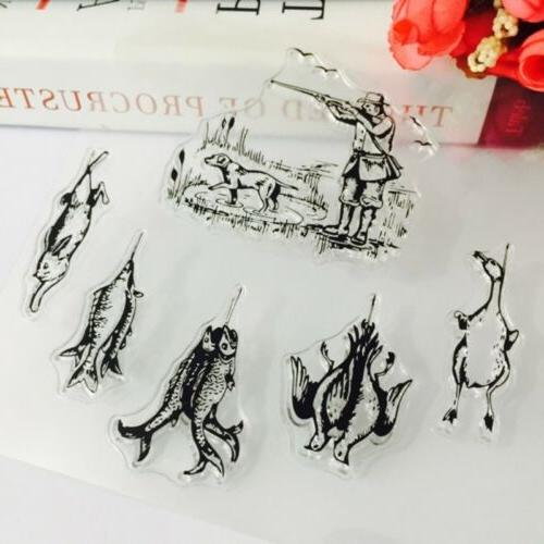 Transparent Silicone Stamp Cling Card