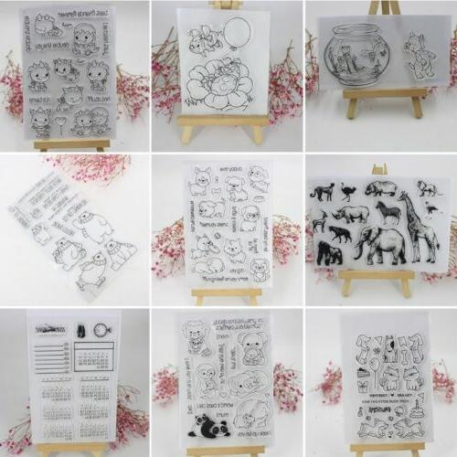 transparent clear silicone rubber stamp cling diy
