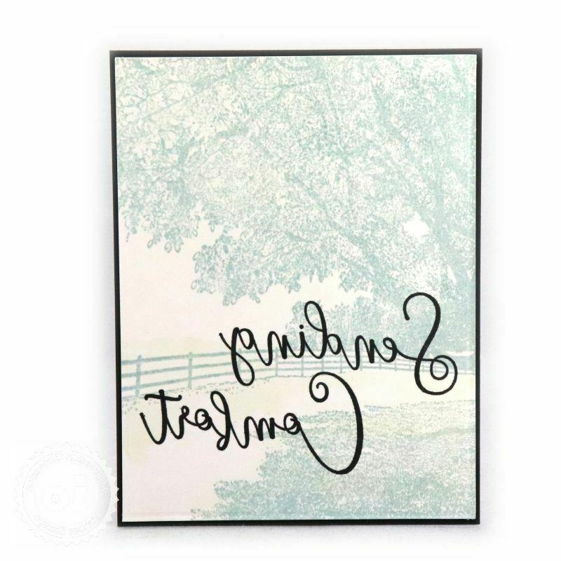 TREE Cover Background Stamp Impression CC378