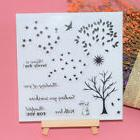 Tree Flower Transparent Silicone Clear Rubber Stamp Sheet Cl