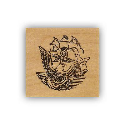 united states navy emblem mounted rubber stamp