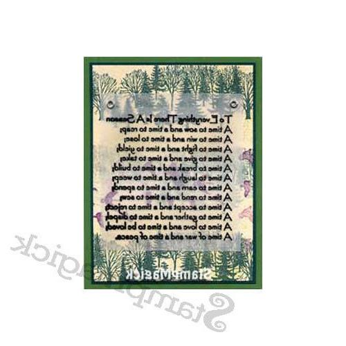 Unmounted Forest Trees Stamp fall winter branch scene