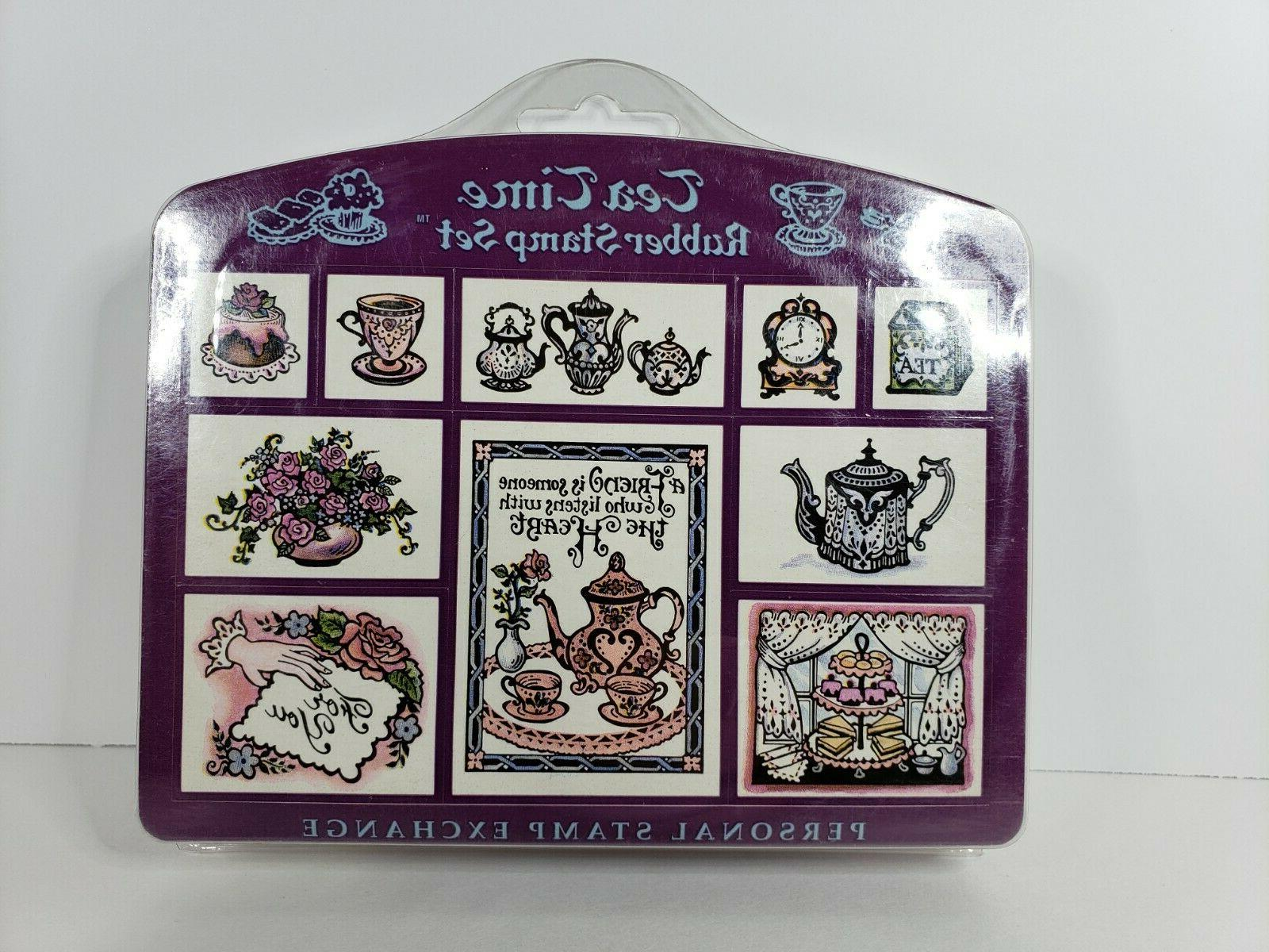 Vintage Stamp Set Stamps Scrapbooking Crafts New