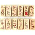 Vintage Flower Lace Wooden Rubber Stamp Letters Diary DIY  S