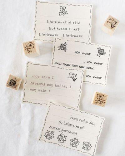 Shopline 12 Vintage Stamps, with Flower Letters Craft