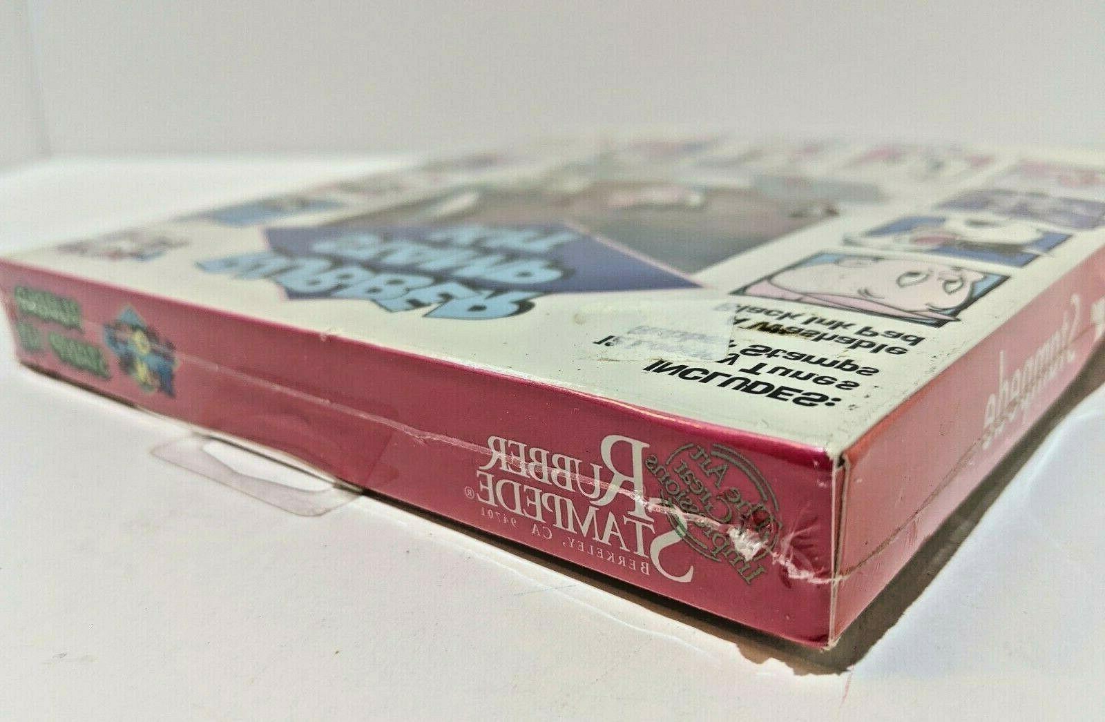 Vintage Looney Tunes Rubber Stamp Kit New Rubber Stampede