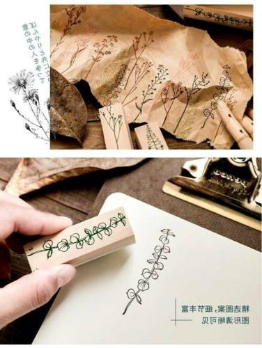 Vintage Wooden Rubber Stamps DIY Craft Stamp