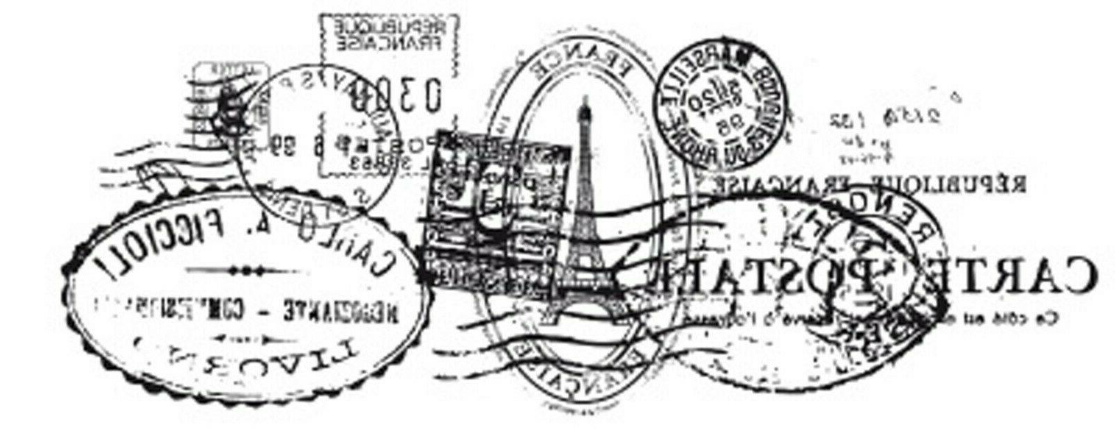vintage postmarks clear cling unmounted rubber stamp